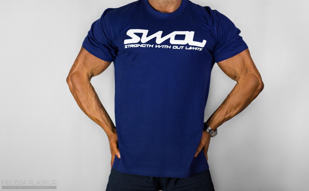 Swol T-Shirt Blue - Swole Gym Wear